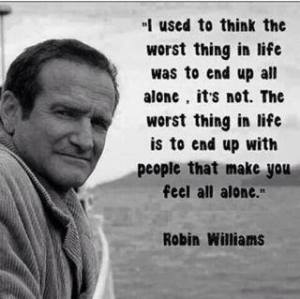A word about the death of Robin Williams